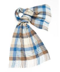 Newsam aqua lambswool scarf