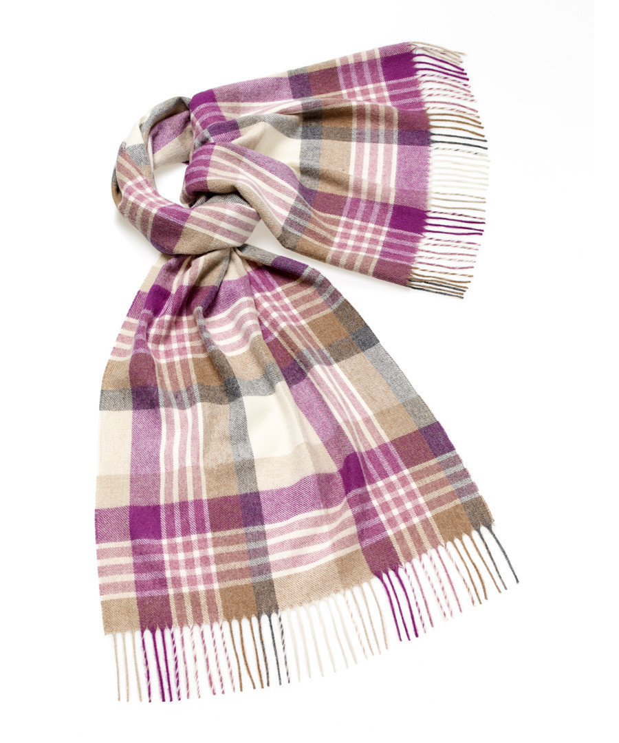 Newsam lilac lambswool scarf Sale - bronte
