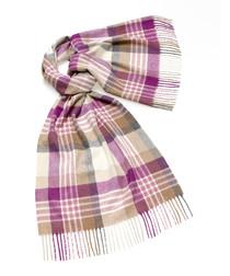 Newsam lilac lambswool scarf