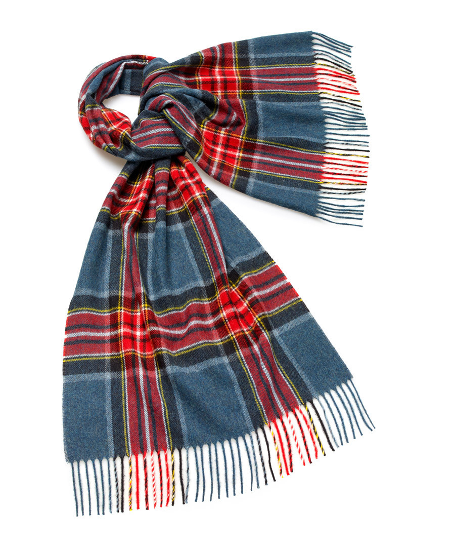 Scampston teal lambswool scarf Sale - bronte