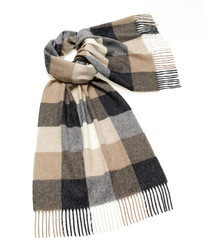 Sledmere neutral lambswool scarf