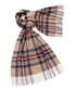 Kildwick camel & plum lambswool scarf Sale - bronte Sale