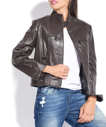 Women's Melody brown pure leather jacket