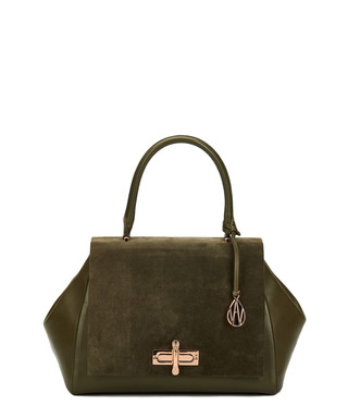 9f2984497a Amanda Wakeley. The Cagney khaki leather shoulder bag