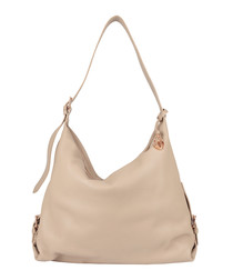 The Costner sand leather slouch bag