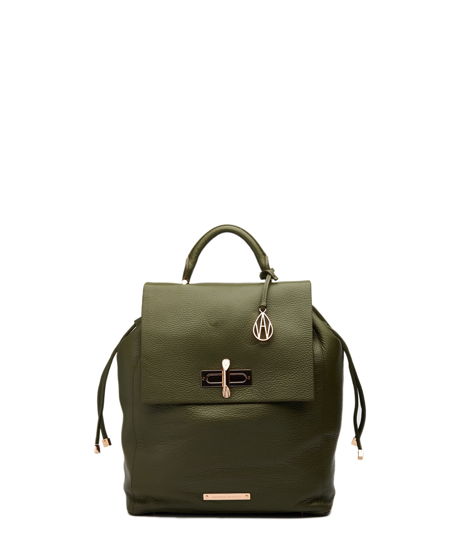 The Elba khaki leather backpack Sale - amanda wakeley