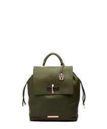 The Elba khaki leather backpack
