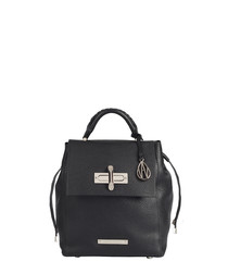 Micro Elba black leather backpack