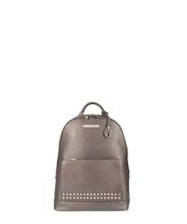 Flynn bronze leather backpack