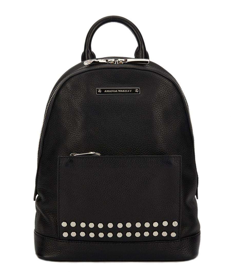 The Mini Flynn black leather backpack Sale - Amanda Wakeley
