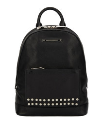 The Mini Flynn black leather backpack