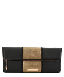 The Stripe Hoffman black leather clutch