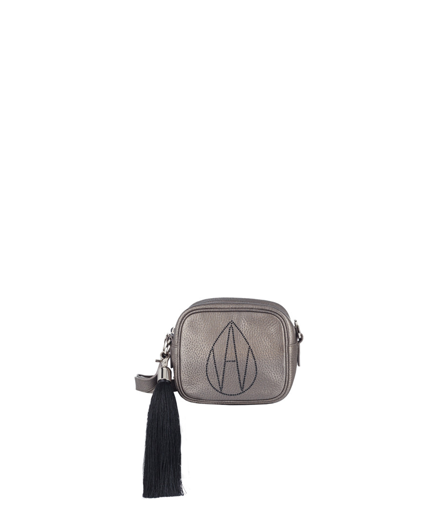The Bowie bronze leather cross body Sale - Amanda Wakeley