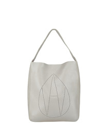 The Jovie silver leather shopper