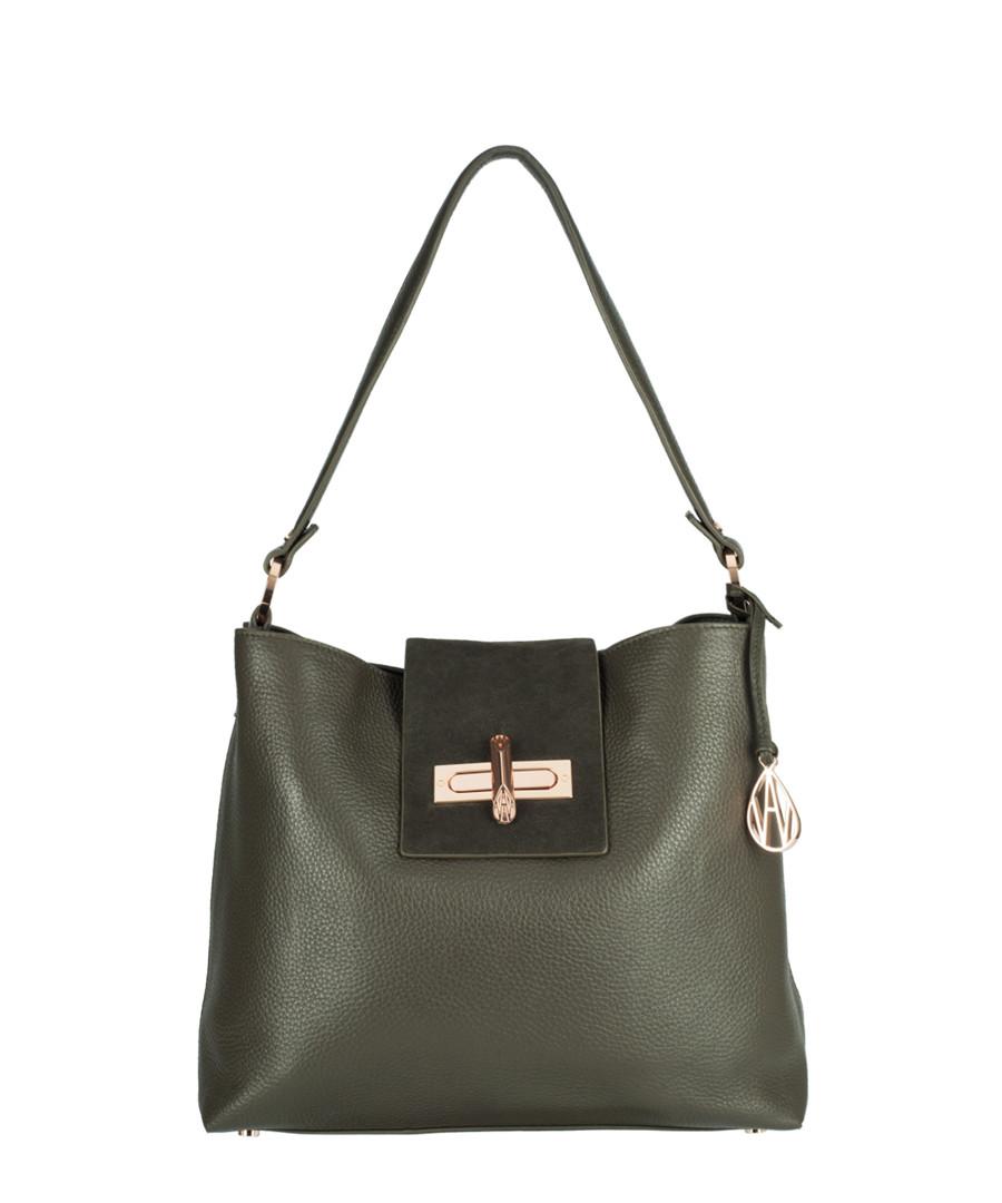 Quin Hobo khaki leather shopper bag Sale - Amanda Wakeley