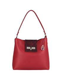 Quin Hobo red leather shopper bag