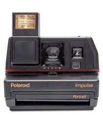 Polaroid 600 Square black camera