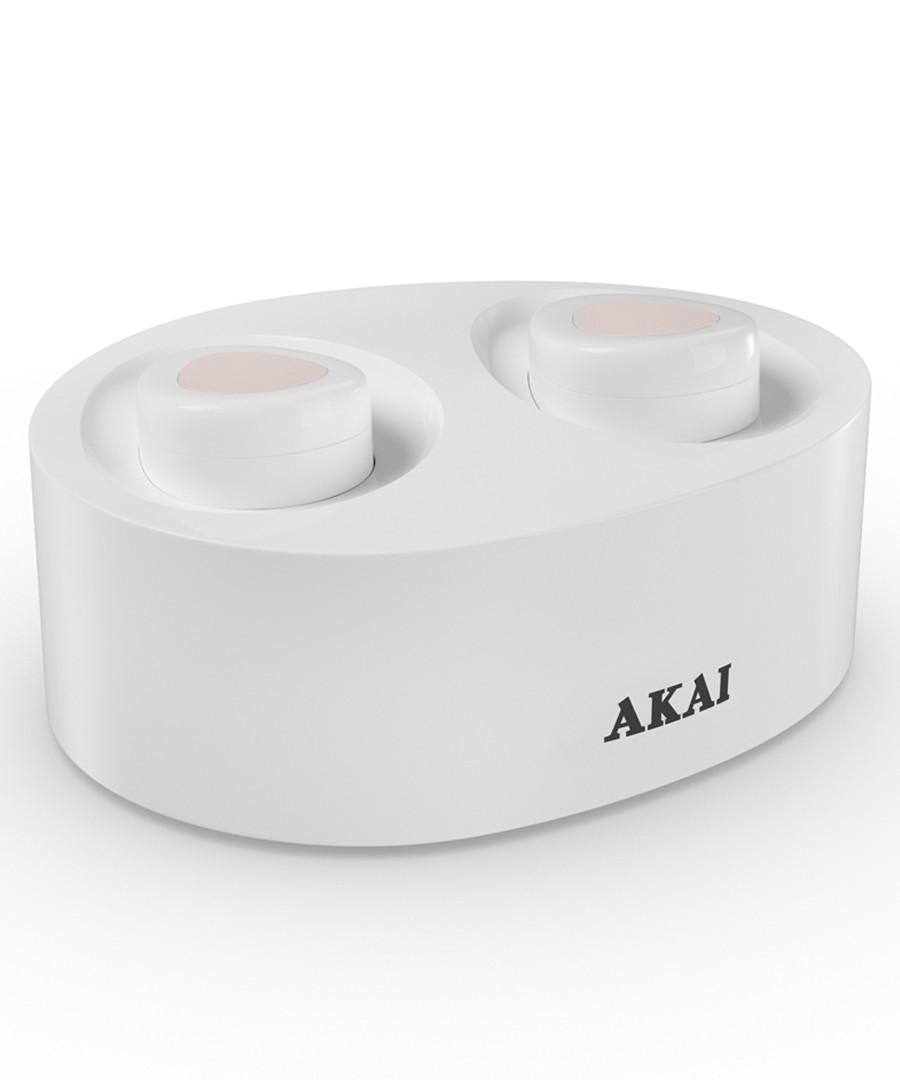 White wireless earbuds Sale - Akai