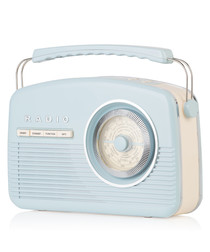 Blue DAB bluetooth retro radio