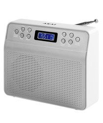 White portable DAB radio
