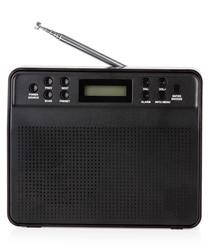 Black portable DAB radio