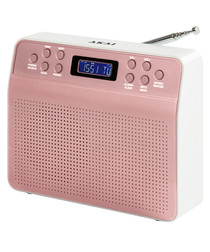 Pink portable DAB radio