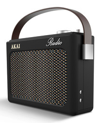 PLL black AM/FM retro radio