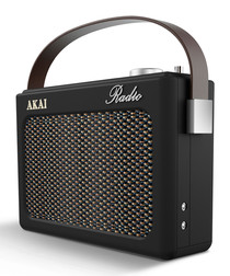 Black DAB retro radio
