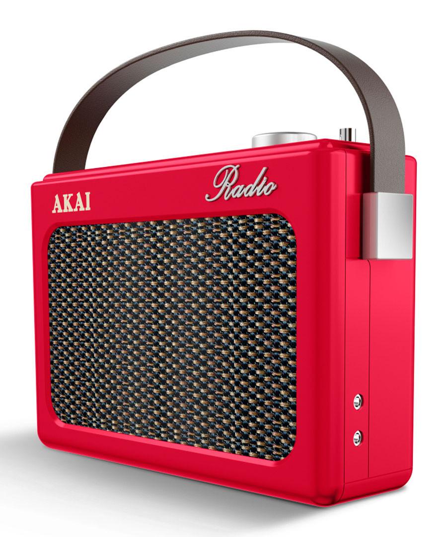 Red DAB retro radio Sale - Akai