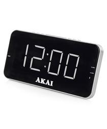 Black radio LED alarm clock