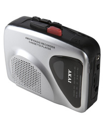 Grey & black 2 radio cassette recorder