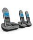 3pc grey & black cordless home phone Sale - Akai Sale