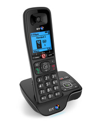 Black cordless home phone