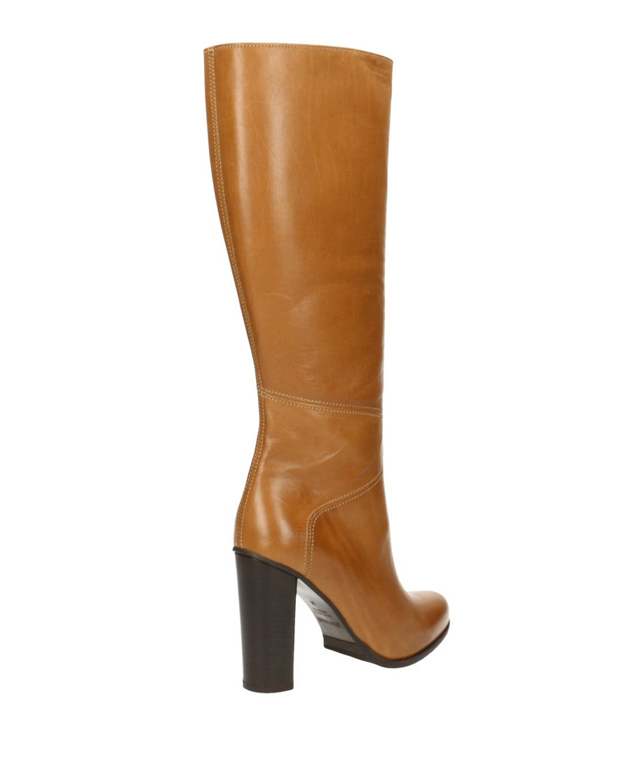beauty limited quantity new products Discount Ambergris leather knee high boots | SECRETSALES
