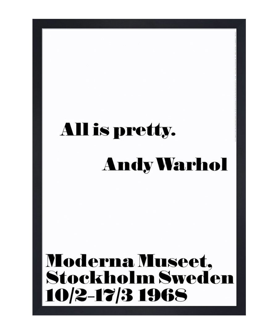 All is pretty framed print Sale - Andy Warhol