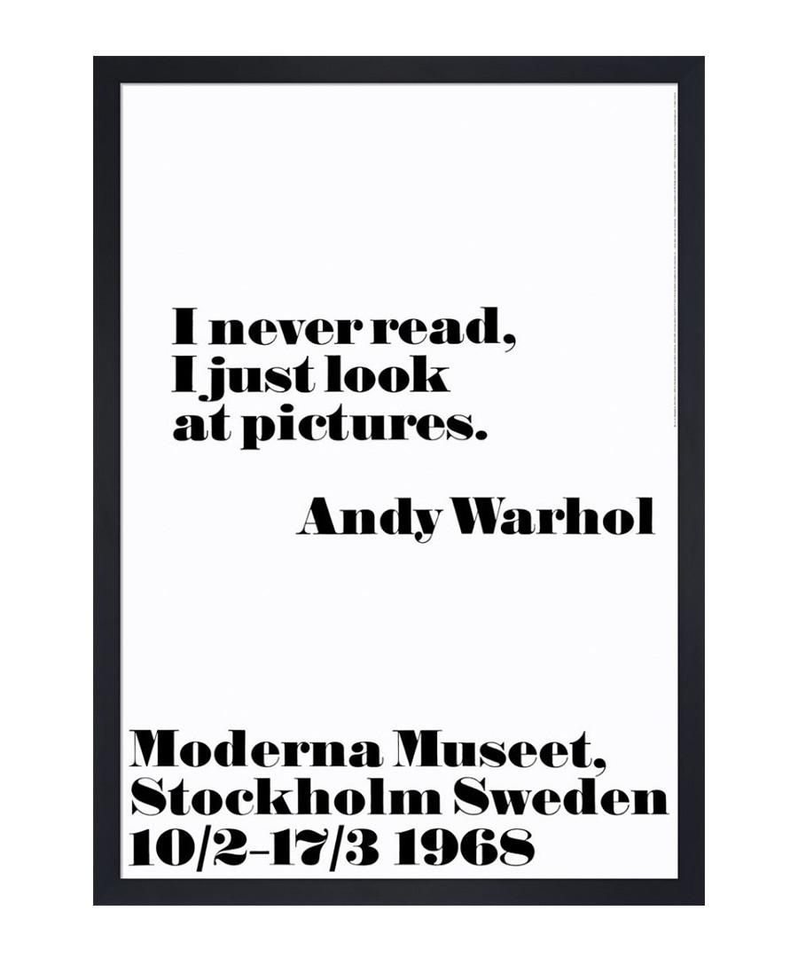 I never read framed print Sale - andy warhol