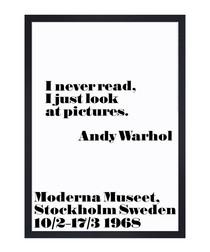 I never read framed print