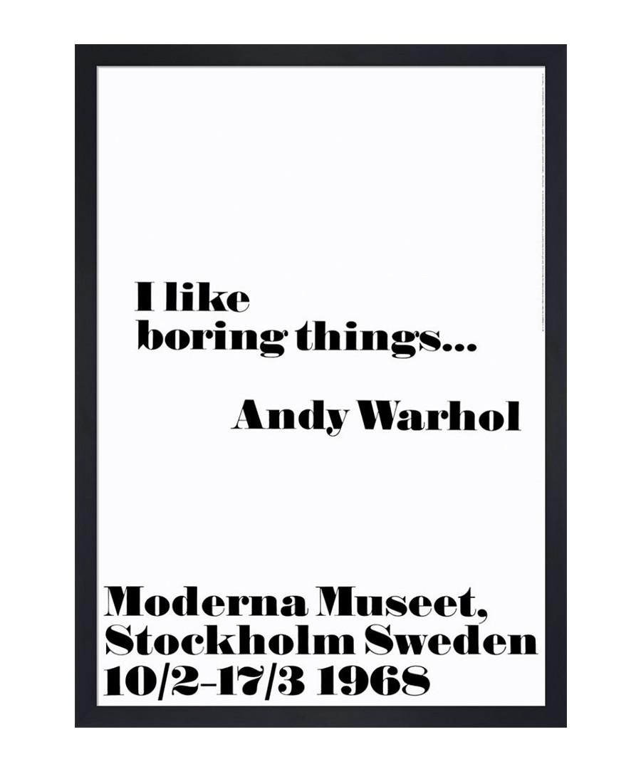 I like Boring Things framed print Sale - Andy Warhol