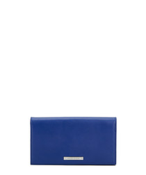 The Lennon sapphire leather clutch