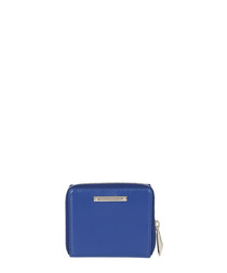 The Jagger blue leather clutch