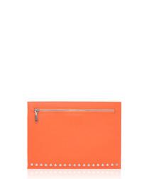 The Tyler orange leather clutch