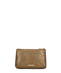 The Large Mercury brown leather pouch