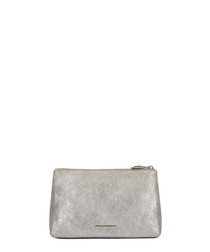 The Large Mercury silver leather plouch
