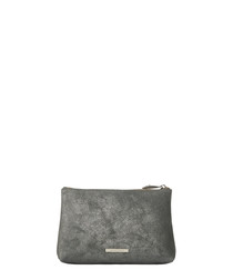 The Large Mercury grey leather pouch