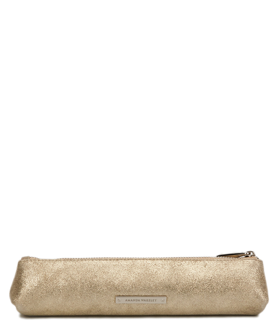 The Small Mercury brown leather pouch Sale - Amanda Wakeley