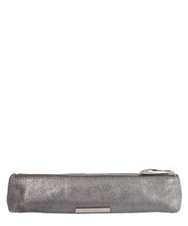 The Mini Mercury gunmetal leather pouch