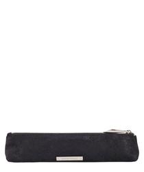 The Mini Mercury black leather pouch