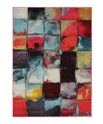 Radiant Abstract red rug 160x230cm