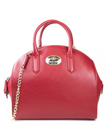 Burgundy leather bowling bag