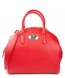 Red leather bowling bag